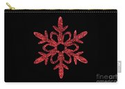 Red Snowflake Ornament Carry-all Pouch