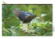 Red-spotted Purple Butterfly On Privet Flowers Carry-all Pouch