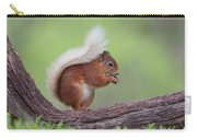 Red Squirrel Curved Log Carry-all Pouch