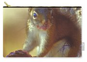 Red Squirrel With Pine Cone Carry-all Pouch