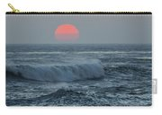 Red Sun With Wave Carry-all Pouch