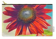 Red Sunflowers At Sundown Carry-all Pouch