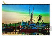 Red Sunrise And The Shrimp Boat Carry-all Pouch