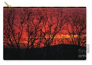 Red Sunrise Over The Ozarks Carry-all Pouch
