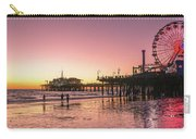 Red Sunset In Santa Monica Carry-all Pouch