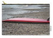Red Surf Board On A Rocky Beach Carry-all Pouch