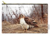 Red Tailed Hawk In The Field Carry-all Pouch