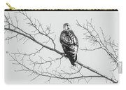 Red-tailed Hawk On Perch Carry-all Pouch
