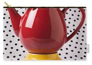 Red Teapot With Butterfly Carry-all Pouch