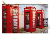 Red Telephone Booths London Carry-all Pouch