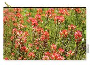 Red Texas Wildflowers Carry-all Pouch