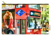 Red Tourist Bus In New York Carry-all Pouch