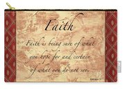 Red Traditional Faith Carry-all Pouch