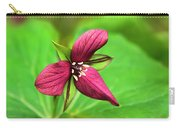 Red Trillium Wildflower Carry-all Pouch