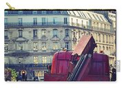 Red Truck In Paris Street Carry-all Pouch