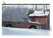 Red Truck In The Snow Carry-all Pouch
