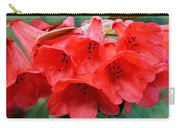 Red Trumpet Rhodies Carry-all Pouch