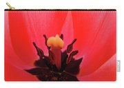 Red Tulip Art Print Inside Tulips Flowers Baslee Troutman Carry-all Pouch
