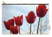 Red Tulip Flowers Spring Artwork Baslee Troutman Carry-all Pouch
