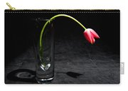 Red Tulip On Black Carry-all Pouch