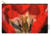 Red Tulip Texture Carry-all Pouch