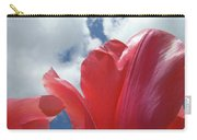 Red Tulips Flowers Art Prints Spring Tulip Garden White Clouds Baslee Troutman Carry-all Pouch