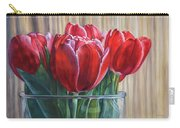 Red Tulips, Glass Rim Carry-all Pouch