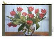 Red Tulips, Glass Vase Carry-all Pouch