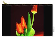 Red Tulips In Vase # 4. Carry-all Pouch
