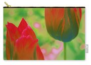 Red Tulips Pop Art Carry-all Pouch