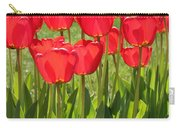 Red Tulips Square Carry-all Pouch