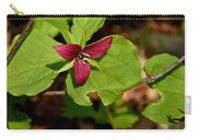 Red Upright Trillium Carry-all Pouch