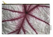 Red Veined Leaf Carry-all Pouch