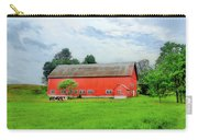 Red Vermont Barn Carry-all Pouch