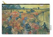 Red Vineyards At Arles Carry-all Pouch