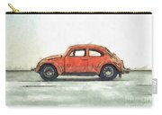 Red Vw Beetle Bug Pencil Carry-all Pouch