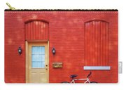 Red Wall White Bike Carry-all Pouch