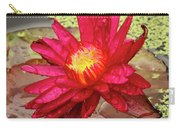 Red Water Lily Carry-all Pouch
