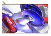 Red White And Blue Abstract Carry-all Pouch by Alexander Butler