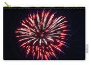 Red White And Blue Fireworks Carry-all Pouch