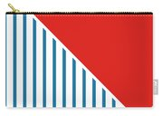Red White And Blue Triangles 2 Carry-all Pouch by Linda Woods