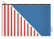 Red White And Blue Triangles Carry-all Pouch by Linda Woods
