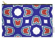 Red White And Blue Tulips Pattern- Art By Linda Woods Carry-all Pouch