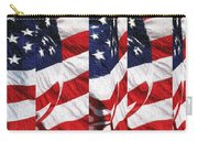 Red White Blue - American Stars And Stripes Carry-all Pouch
