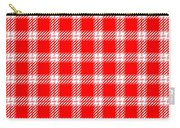 Red White Tartan Carry-all Pouch