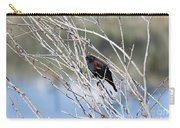 Red Winged Black Bird At Chatfield Carry-all Pouch
