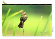 Red Winged Blackbird Female Carry-all Pouch