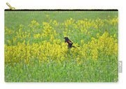 Red-winged Blackbird In Wild Mustard Carry-all Pouch