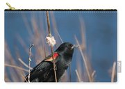 Red-winged Blackbird On Cattail  Carry-all Pouch