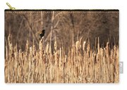 Red Winged Blackbird On Cattails Carry-all Pouch